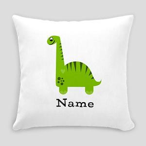 Green Dinosaur (p) Everyday Pillow