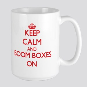 Keep Calm and Boom Boxes ON Mugs