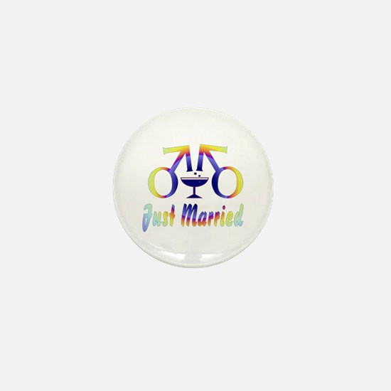 Just Married Men Mini Button