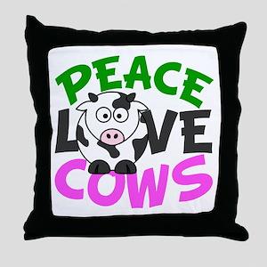 Love Cows Throw Pillow