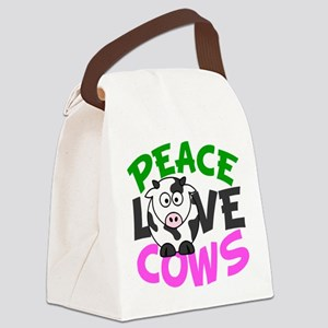 Love Cows Canvas Lunch Bag