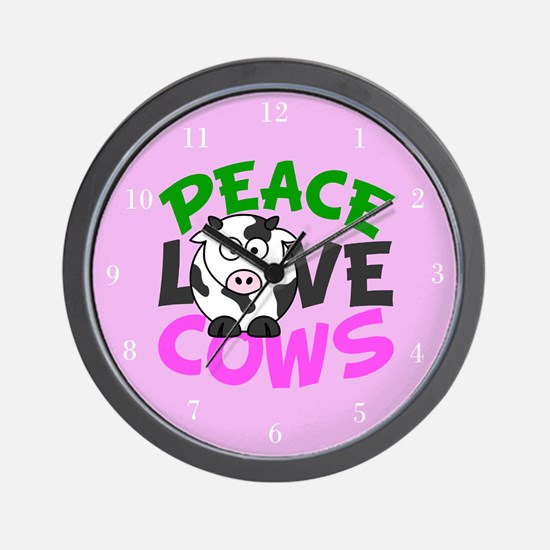 Love Cows Wall Clock