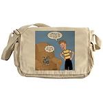 Timmy Goes Outside Messenger Bag