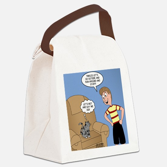 Timmy Goes Outside Canvas Lunch Bag