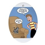 Timmy Goes Outside Ornament (Oval)