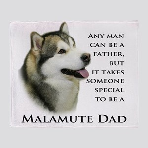 Malamute Throw Blanket