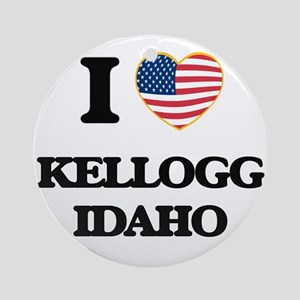 I love Kellogg Idaho Ornament (Round)