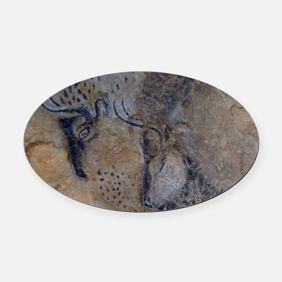french pyrenees cave paintings Oval Car Magnet