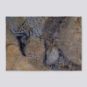 french pyrenees cave paintings 5'x7'Area Rug