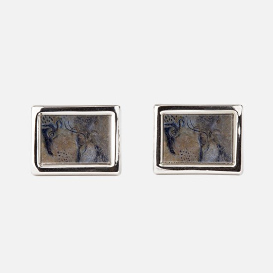 french pyrenees cave paintin Rectangular Cufflinks
