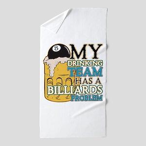 Billiards Drinking Team Beach Towel