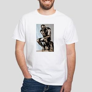 Rodin's Thinker White T-Shirt