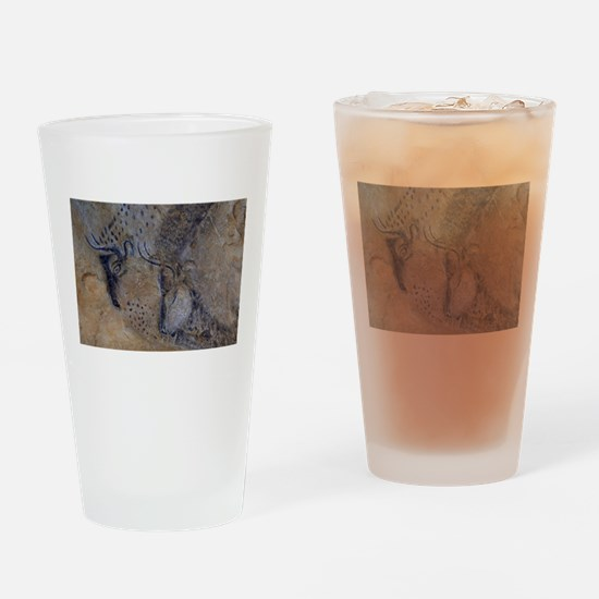 french pyrenees cave paintings Drinking Glass