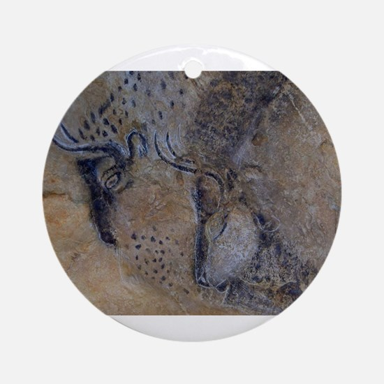 french pyrenees cave paintings Ornament (Round)