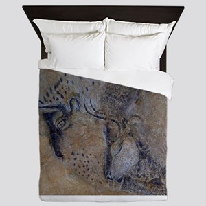 french pyrenees cave paintings Queen Duvet