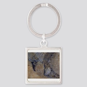 french pyrenees cave paintings Keychains