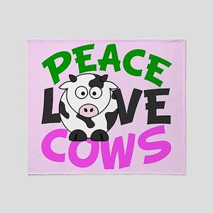 Love Cows Throw Blanket