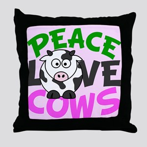 Love Cows Throw Pillow