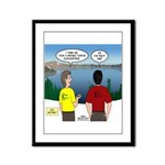 Exploring the Outdoors Framed Panel Print
