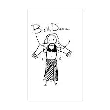 Bellydancer Rectangle Sticker
