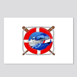 Coast Guard Wheel Postcards (Package of 8)