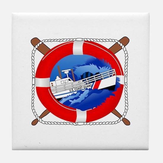 Coast Guard Wheel Tile Coaster