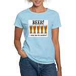 Beer Women's Pink T-Shirt