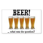 Beer Rectangle Sticker