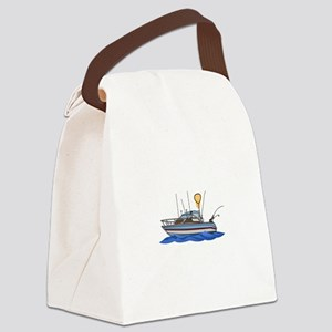 Fishing Boat Canvas Lunch Bag