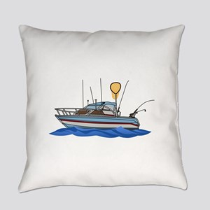Fishing Boat Everyday Pillow