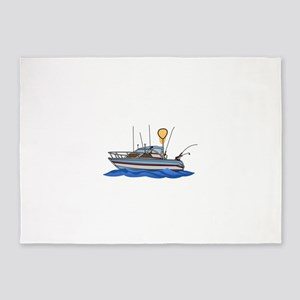 Fishing Boat 5'x7'Area Rug