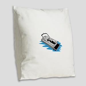 Pontoon Burlap Throw Pillow