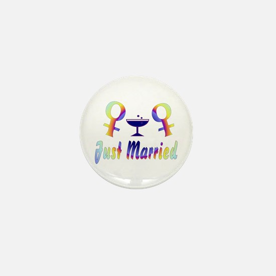 Just Married Women Mini Button
