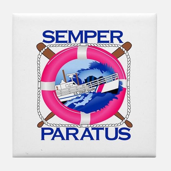 Semper Paratus Tile Coaster