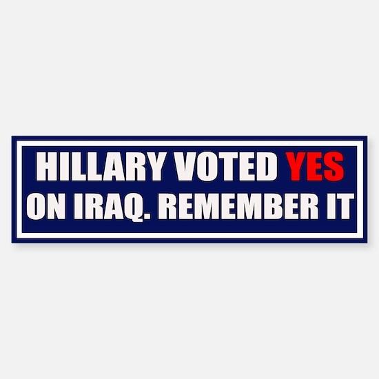 NO Hillary Bumper Bumper Bumper Sticker