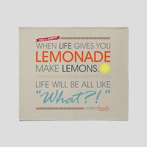 Phil's-osophy Lemonade Full Bleed Throw Blanket