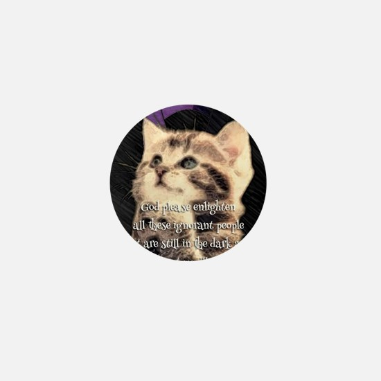 Praying Kitty  Mini Button