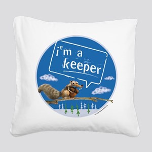 Ice Age I'm a Keeper Square Canvas Pillow