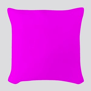 Solid Magenta Woven Throw Pillow