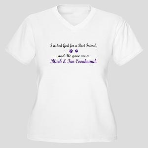 God Gave Me A Coonhound (BT) Women's Plus Size V-N