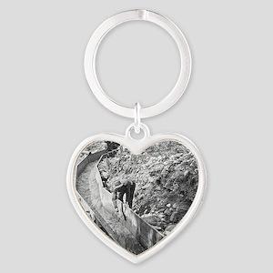 California Gold Rush Heart Keychain