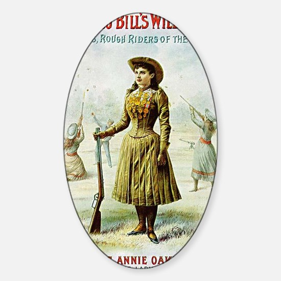Annie Oakley Sticker (Oval)