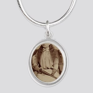 Annie Oakley Silver Oval Necklace