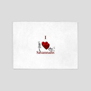 I Heart Savannahs 5'x7'Area Rug
