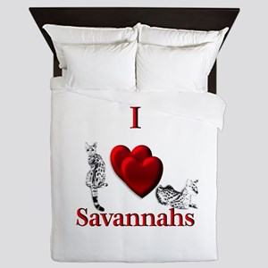 I Heart Savannahs Queen Duvet