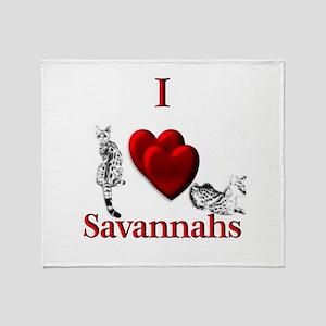 I Heart Savannahs Throw Blanket