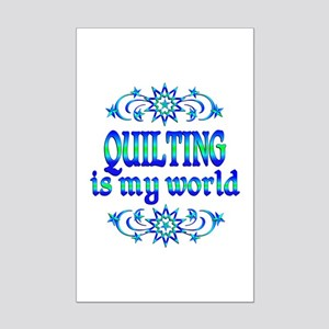Quilting is my World Mini Poster Print