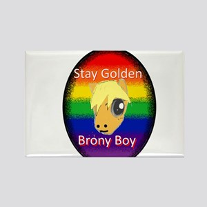 Stay Golden Brony Boy Magnets