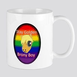 Stay Golden Brony Boy Mugs