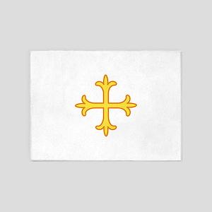 Ornate Cross 5'x7'Area Rug